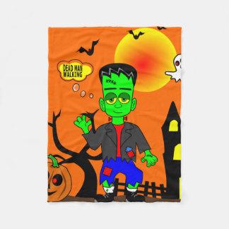 Funny Frankenstein's Monster Image Fleece Blanket
