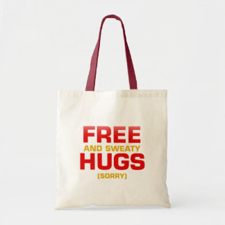 Funny FREE HUGS with hidden message Budget Tote Bag
