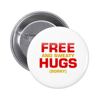 Funny FREE HUGS with hidden message Buttons