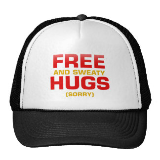 Funny FREE HUGS with hidden message Hat