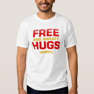 Funny FREE HUGS with hidden message Shirts