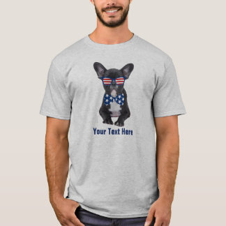 Funny French Bulldog 4th of July USA Custom T-Shirt