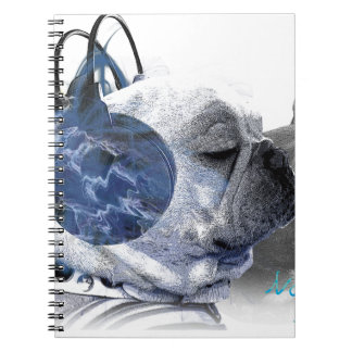 funny frenchbulldogs icon notebook