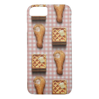 Funny fried chicken and waffles hipster kitsch iPhone 7 case