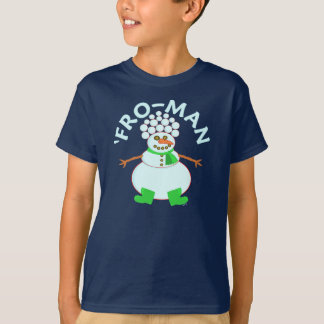 Funny 'Fro Snowman Christmas T-Shirt