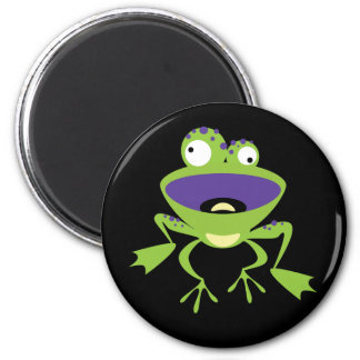 Funny Frog 6 Cm Round Magnet
