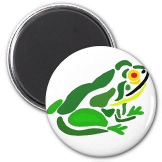 Funny Frog Abstract Art 6 Cm Round Magnet
