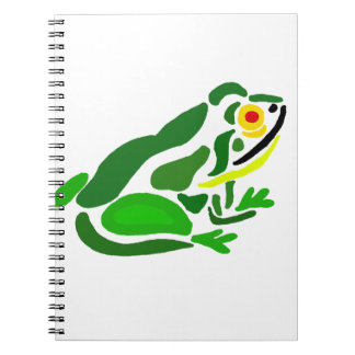Funny Frog Abstract Art Notebook