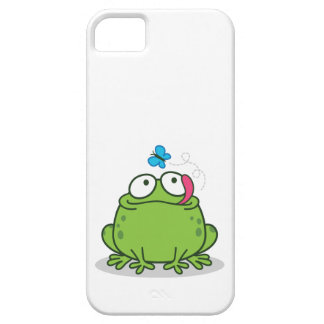 Funny frog and butterfly design iPhone 5 cases