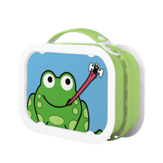 Funny Frog and Fly Lunch Box
