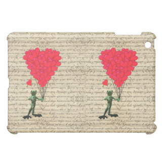 Funny frog and heart balloons case for the iPad mini