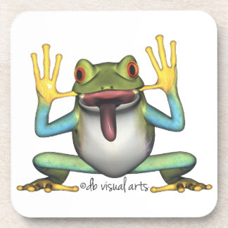 Funny Frog Cork Coaster