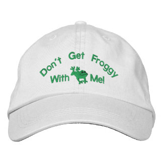 Funny Frog Embroidered Hat