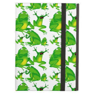 Funny Frog Emotions Angry Mad Curious Scared Frogs iPad Air Cover
