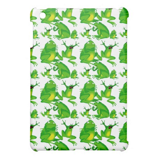 Funny Frog Emotions Angry Mad Curious Scared Frogs iPad Mini Covers