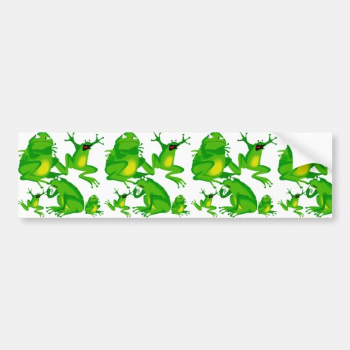 Funny Frog Emotions Mad Curious Scared Frogs Bumper Sticker
