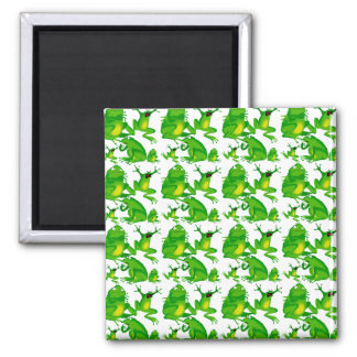 Funny Frog Emotions Mad Curious Scared Frogs Square Magnet