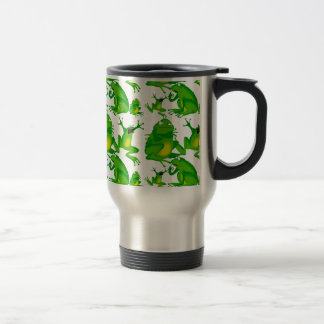 Funny Frog Emotions Mad Curious Scared Frogs Travel Mug