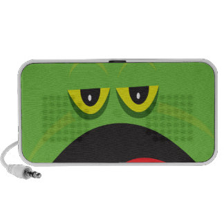 funny frog face iPod speakers