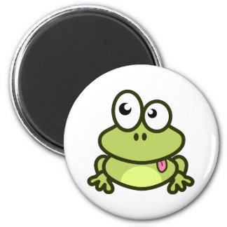 Funny frog fridge magnet