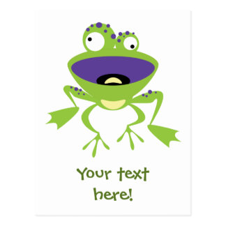 Funny Frog Postcard
