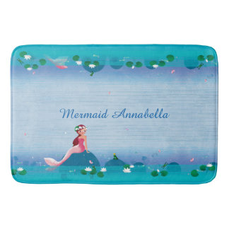 Funny Frog Prince and the Sweet Little Mermaid Bath Mat