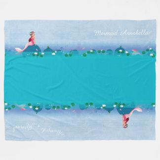 Funny Frog Prince and the Sweet Little Mermaid Fleece Blanket