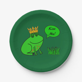 Funny Frog Prince - Kids Party Paper Plates