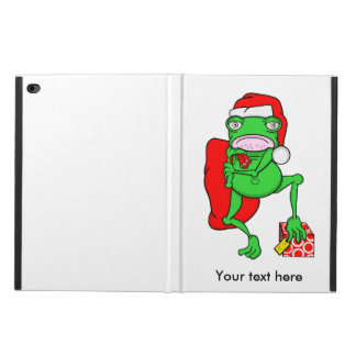 Funny Frog Wearing A  Red Santa Claus Hat