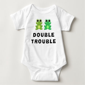 Funny Frogs Double Trouble Baby Bodysuit
