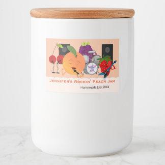 Funny Fruit Jam Food Label