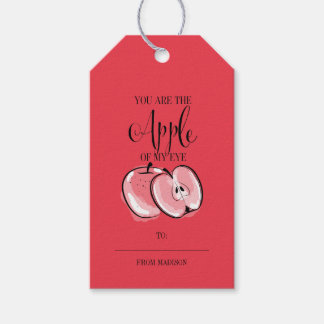 Funny Fruit Pun Apple Valentine Gift Tags