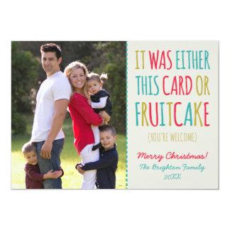 Funny Fruitcake Happy Holidays 13 Cm X 18 Cm Invitation Card