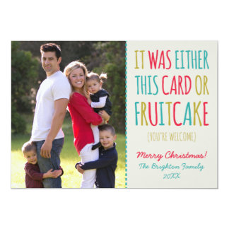 Funny Fruitcake Happy Holidays Card