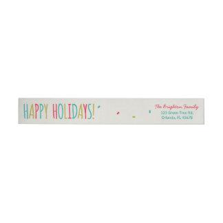 Funny Fruitcake Happy Holidays Wrap Around Label