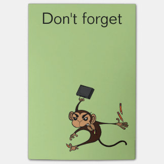 FUNNY FRUSTRATED MONKEY POST IT NOTEPAD