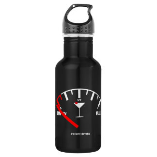 Funny Fuel Gauge Drink Cocktail Glass 532 Ml Water Bottle
