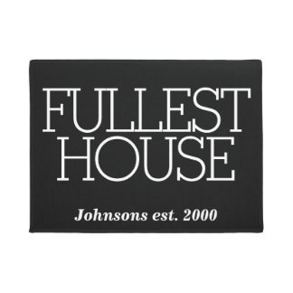 Funny Fullest House Personalized Family Name Doormat