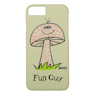 Funny Fun Guy Fungi Cute Cartoon Mushroom For Him iPhone 8/7 Case