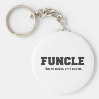 Funny Funcle College Print Key Ring