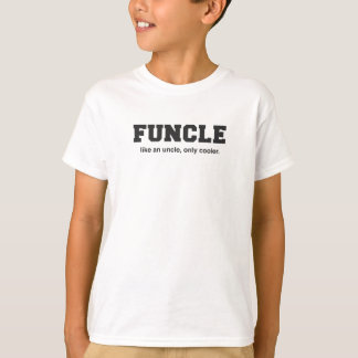 Funny Funcle College Print T-Shirt