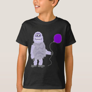 Funny Funky Abominable Snowman Holding Balloon T-Shirt