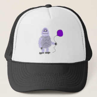 Funny Funky Abominable Snowman Holding Balloon Trucker Hat