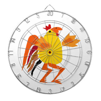 Funny Funky Rooster Cartoon Dartboards