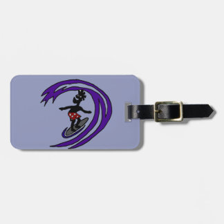 Funny Funky Surfer Dude Art Luggage Tag