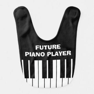 Funny FUTURE PIANO PLAYER baby bib for kids