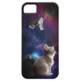 Funny Galaxy Kitten Cats Space Phone Case