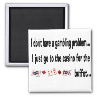 Funny Gambling Casino Cards Humorous Magnet