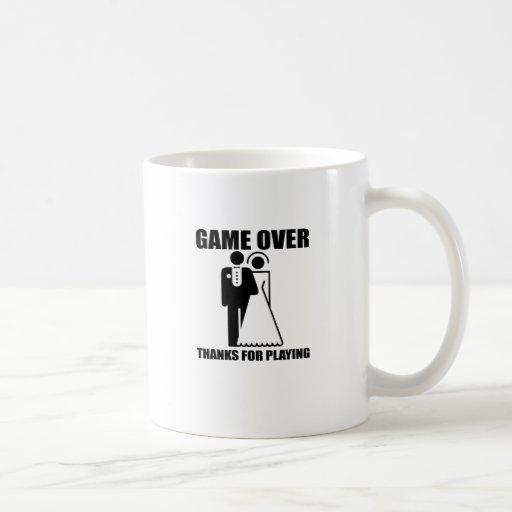 """Funny, """"Game Over"""" Wedding design Coffee Mug"""