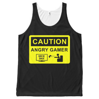 Funny Gamer All-Over Print Tank Top